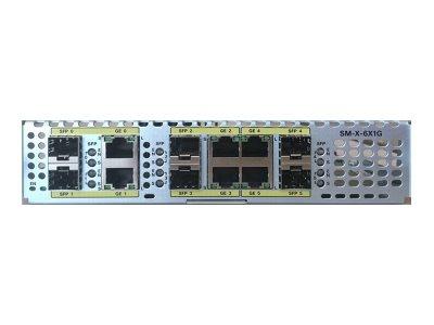 Cisco SM-X-6X1G Gigabit Ethernet Service Module - Erweiterungsmodul - Gigabit Ethernet x 6 + Gigabit SFP x 6 - für Cisco 4451-X