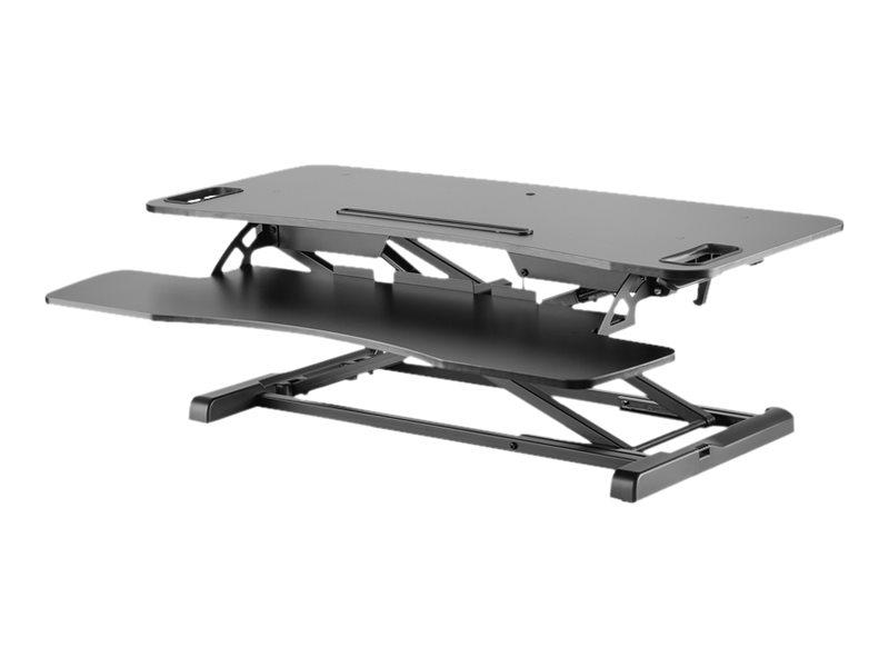DIGITUS - Aufstellung für 2 LCD-Displays/Tastatur/Maus - weiss - Schreibtisch