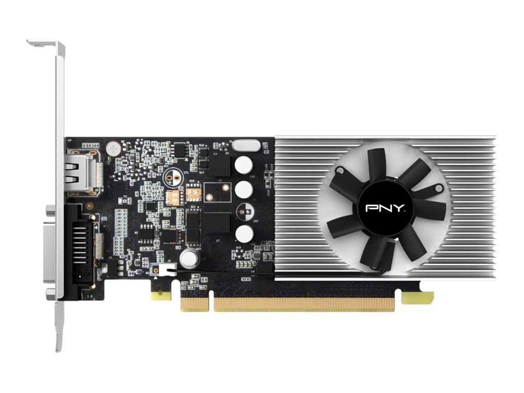 PNY GeForce GT 1030 - Grafikkarten - GF GT 1030 - 2 GB GDDR5 - PCIe 3.0 x4 Low-Profile - DVI, HDMI