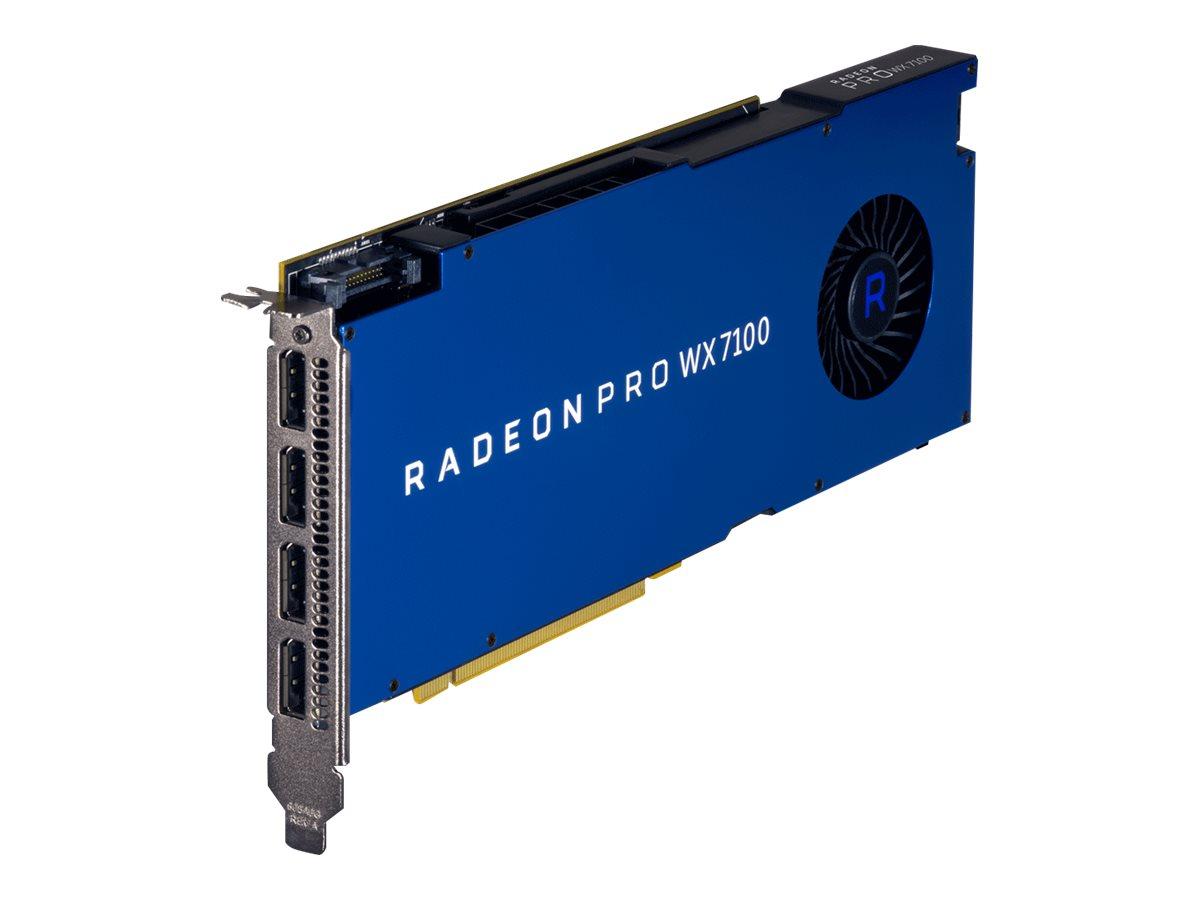 AMD Radeon Pro WX 7100 - Grafikkarten - Radeon Pro WX 7100 - 8 GB - PCIe 3.0 x16 - 4 x DisplayPort