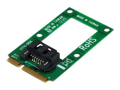 StarTech.com mSATA auf SATA Festplatten / SSD Adapter - Mini Serial-ATA zu SATA Konverter - Festplatten Adapter / Konverter - Sp