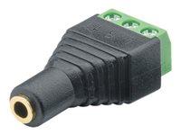 M-CAB - Audio-Adapter - 3-poliger Anschlussblock (W) bis Stereo Mini-Klinkenstecker (W) (Packung mit 10)