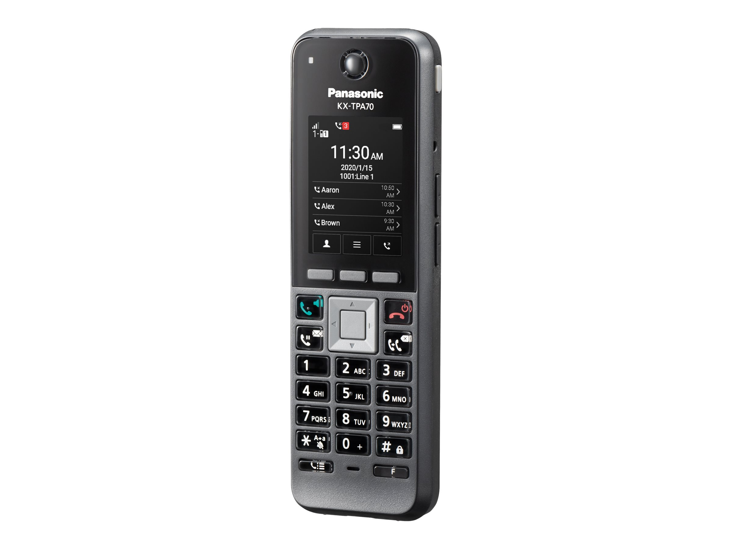 Panasonic KX-TPA70 - Schnurloses Erweiterungshandgerät - DECT\CAT-iq - SIP