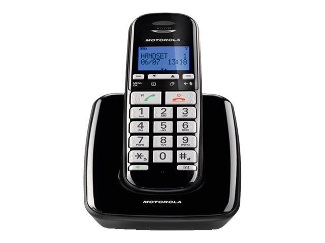 Motorola S3001 - Schnurlostelefon mit Rufnummernanzeige/Anklopffunktion - DECT\GAP - Schwarz, Silber