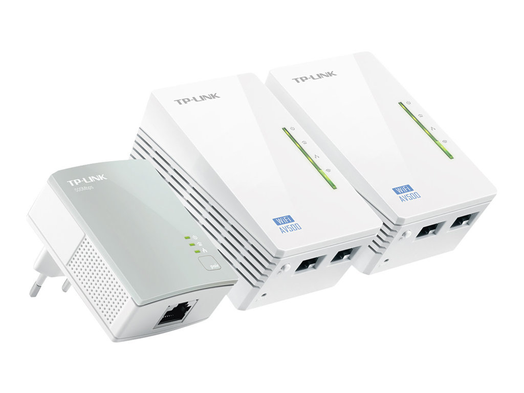 TP-Link TL-WPA4220T KIT AV500 Powerline Universal WiFi Range Extender, 2 Ethernet Ports, Network Kit - Bridge - HomePlug AV (HPA