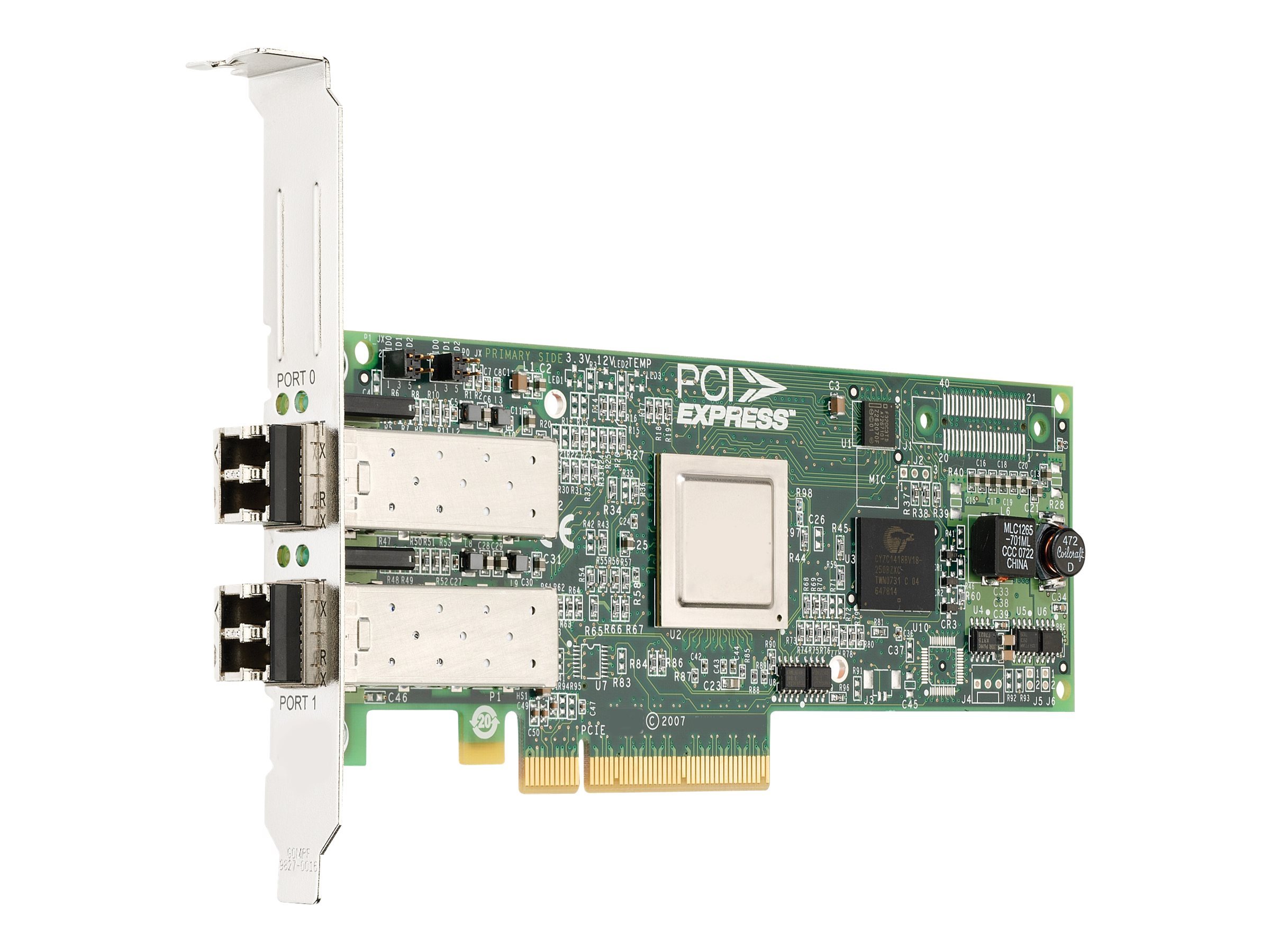 Emulex LPe12002-E (8Gb), single-port HBA (for EMC) - Hostbus-Adapter - 8Gb Fibre Channel x 2