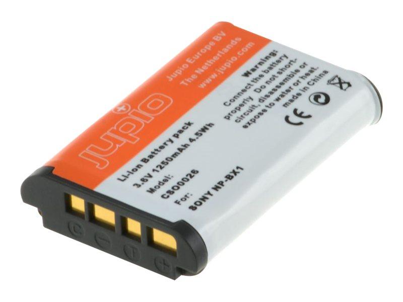 Jupio - Batterie - Li-Ion - 1250 mAh - für Sony ZV-1; Cyber-shot DSC-HX95, HX99, RX100, WX700; Handycam HDR-CX470; VLOGCAM ZV-1G