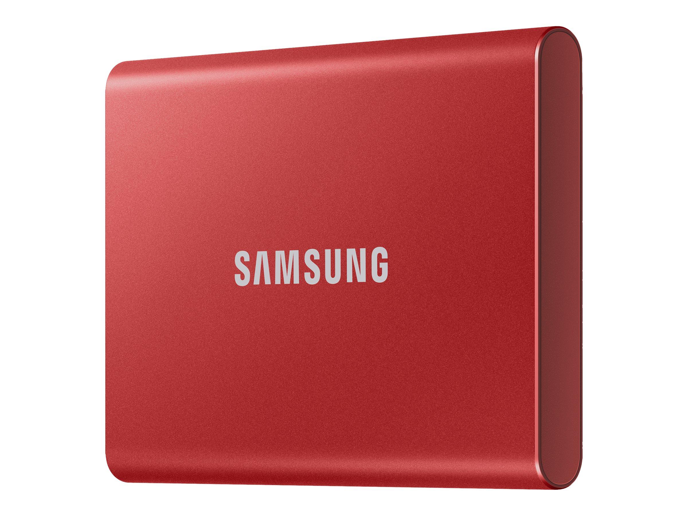 Samsung T7 MU-PC2T0R - Solid-State-Disk - verschlüsselt - 2 TB - extern (tragbar) - USB 3.2 Gen 2 (USB-C Steckverbinder)
