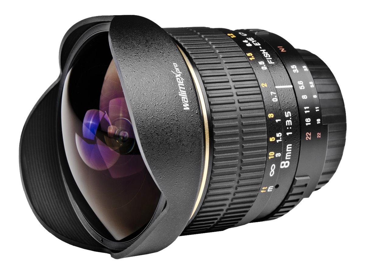 Walimex Pro - Fischaugenobjektiv - 8 mm - f/3.5 - Canon EF/EF-S - für Canon EOS 10, 1000, 1100, 1D, 20, 30, 300, 350, 40, 400, 4