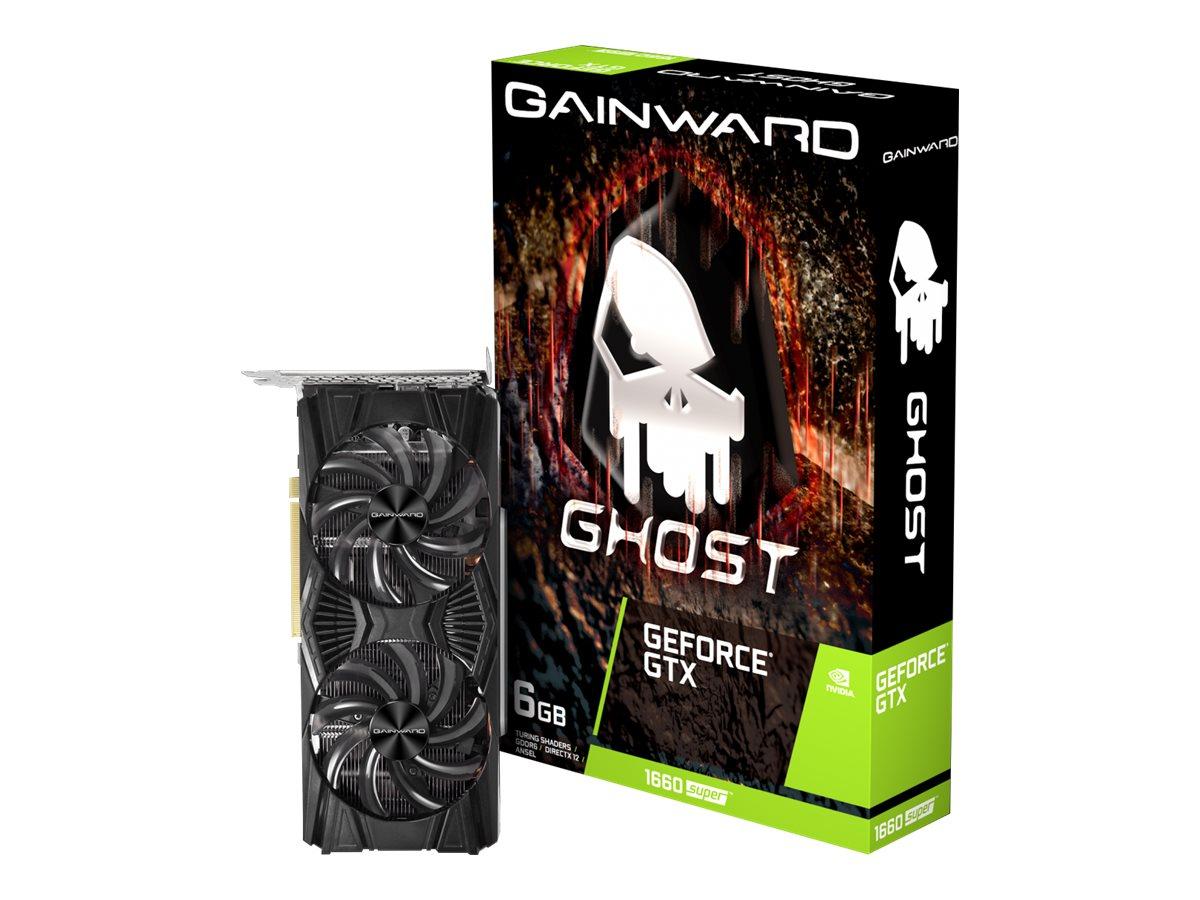 Gainward GeForce GTX 1660 SUPER Ghost - Grafikkarten - GF GTX 1660 SUPER - 6 GB GDDR6 - PCIe 3.0 x16 - DVI, HDMI, DisplayPort
