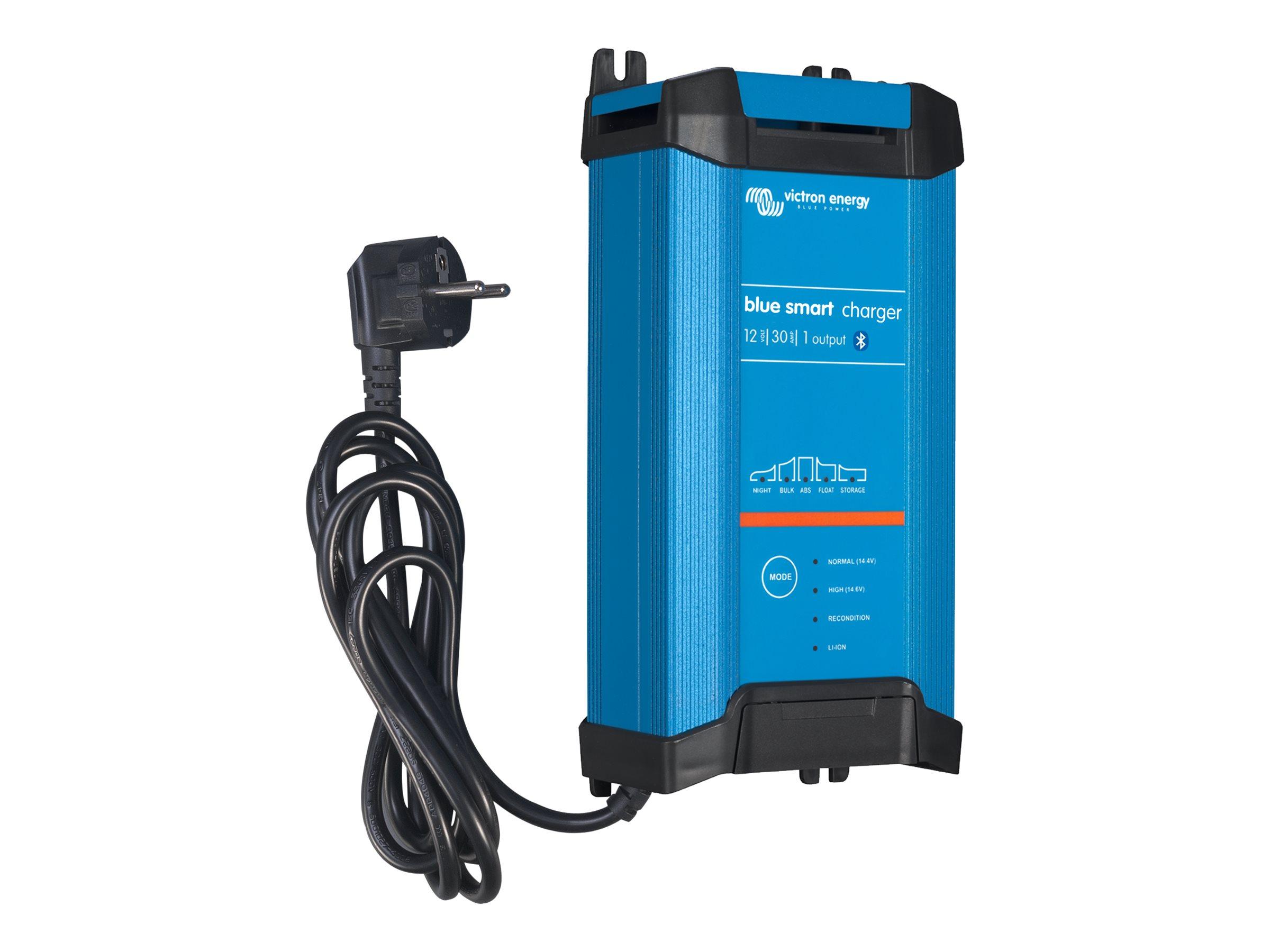 Victron Energy Blue Smart IP22 Charger 12/30 - Batterieladegerät - AC 180-265 V - Ausgangsanschlüsse: 1 - Blau, RAL 5012
