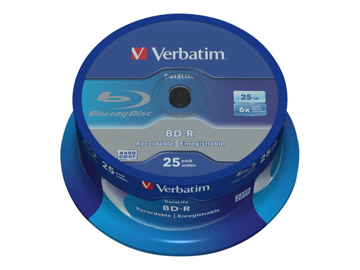 Verbatim DataLife - 25 x BD-R - 25 GB 6x - Spindel