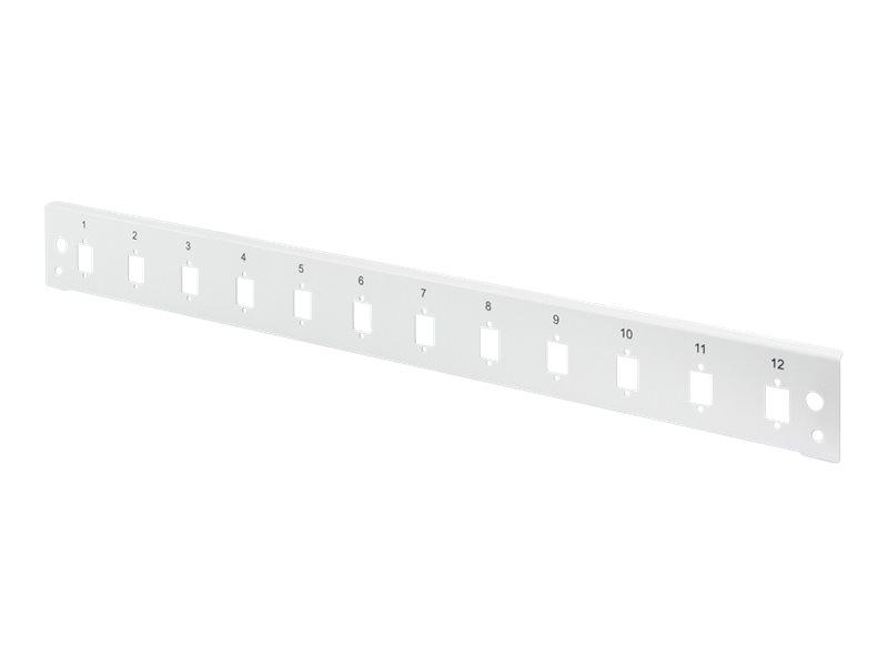 DIGITUS Professional DN-96206-QL - Glasfaser-Spleisskonsole - Vorderseite - LC x 12 - Grau, RAL 7035 - 1U