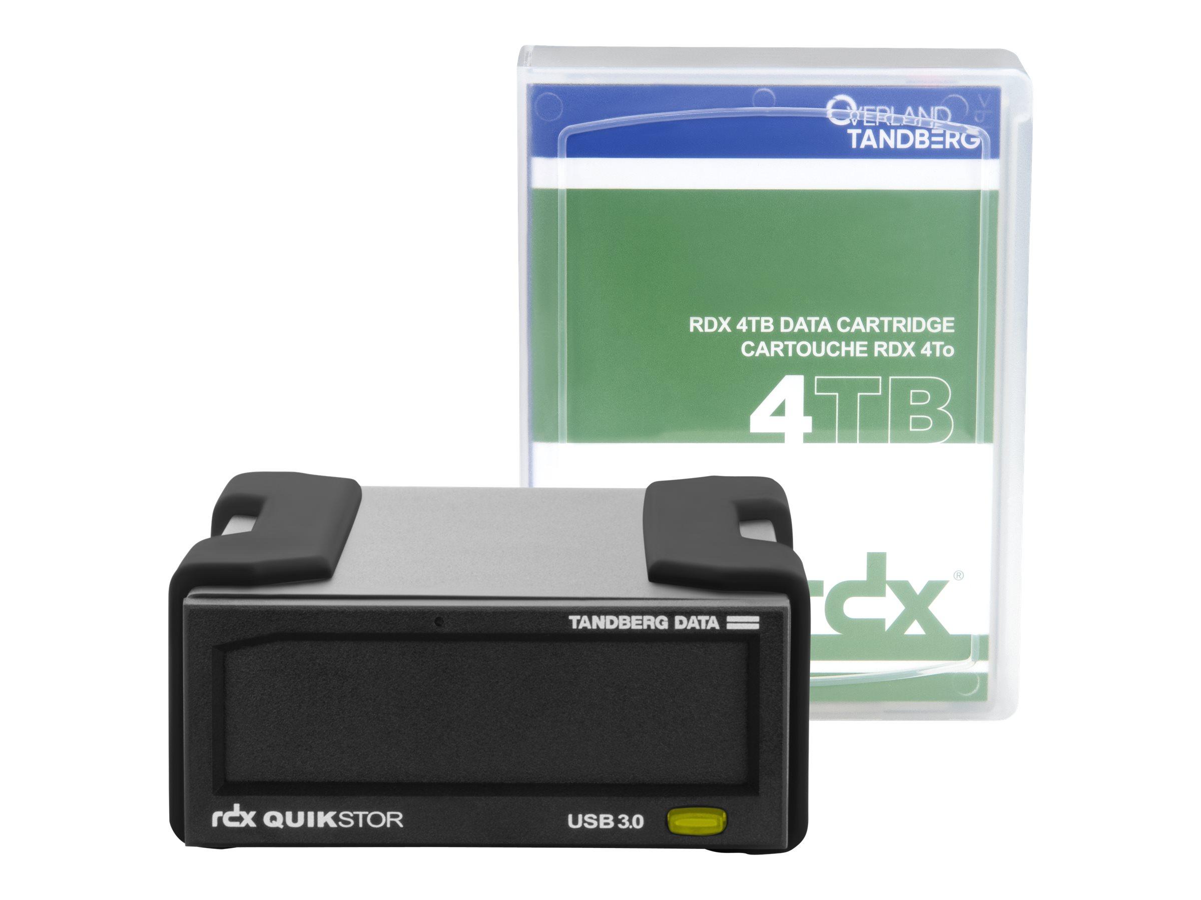 Overland Tandberg RDX QuikStor - Laufwerk - RDX - SuperSpeed USB 3.0 - extern - mit 4-TB-Kassette