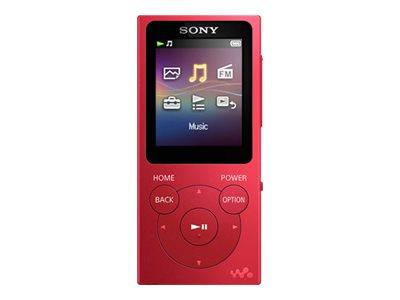 Sony Walkman NW-E394 - Digital Player - 8 GB - Rot