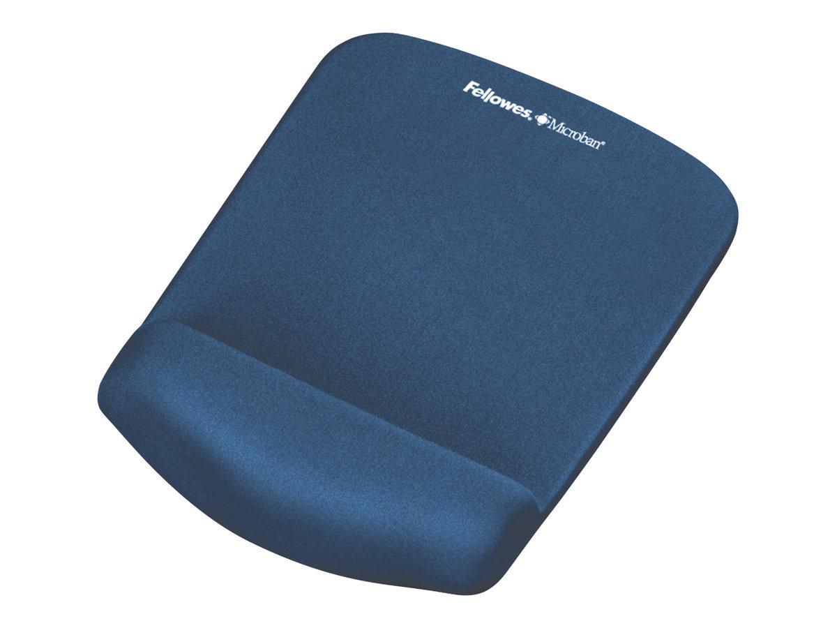 Fellowes PlushTouch - Mauspad mit Handgelenkpolsterkissen - Blau