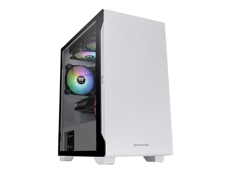 Thermaltake S100 TG Snow - Tempered Glass Snow Edition - Tower - micro ATX - ohne Netzteil (PS/2) - weiss