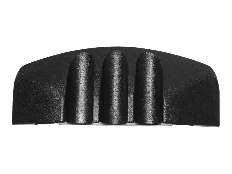Adam Hall Defender Mini ER F - Kabelschutz-Endstück - Boden montierbar - Innenbereich, Aussenbereich - 11.5 cm - Schwarz