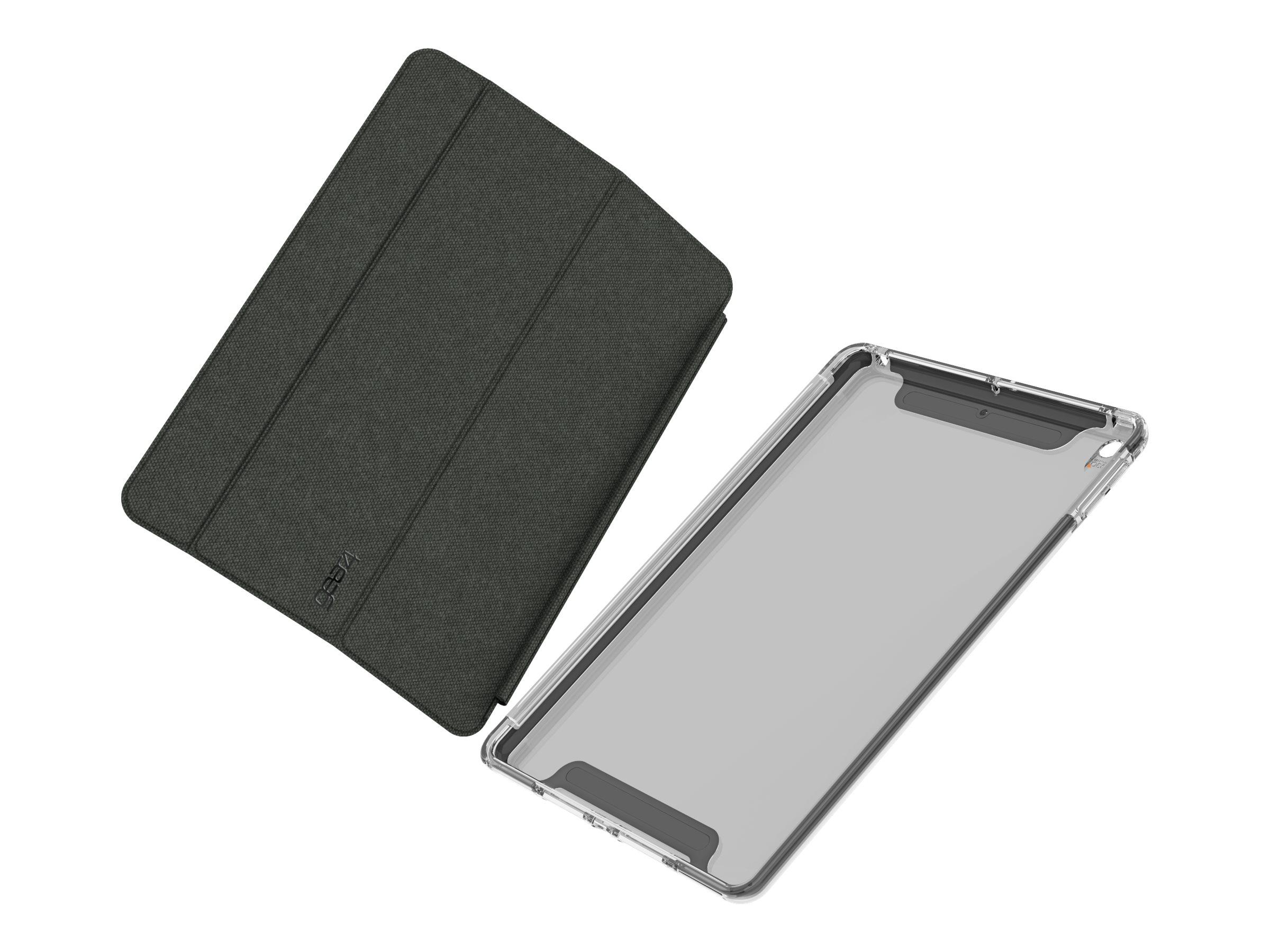 Gear4 Brompton - Flip-Hülle für Tablet - D3O - smoke - für Apple 10.2-inch iPad (7. Generation)