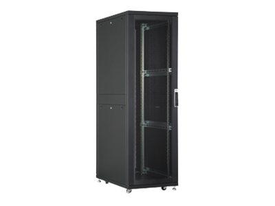 DIGITUS Professional Unique DN-19 SRV-42U-B-GD-1 - Schrank - Netzwerkschrank - Schwarz, RAL 9005 - 42HE - 48.3 cm (19
