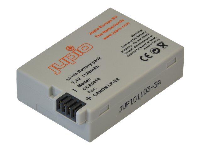 Jupio - Batterie - Li-Ion - 1120 mAh - für Canon EOS 600, 650, 700, Kiss X4, Kiss X5, Kiss X7i, Rebel T3i, Rebel T4i, Rebel T5i