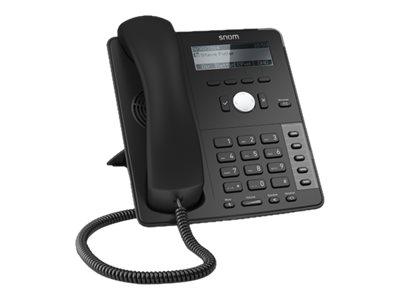 snom D715 - VoIP-Telefon - dreiweg Anruffunktion - SIP, RTCP, SRTP - 4 Leitungen - Schwarz