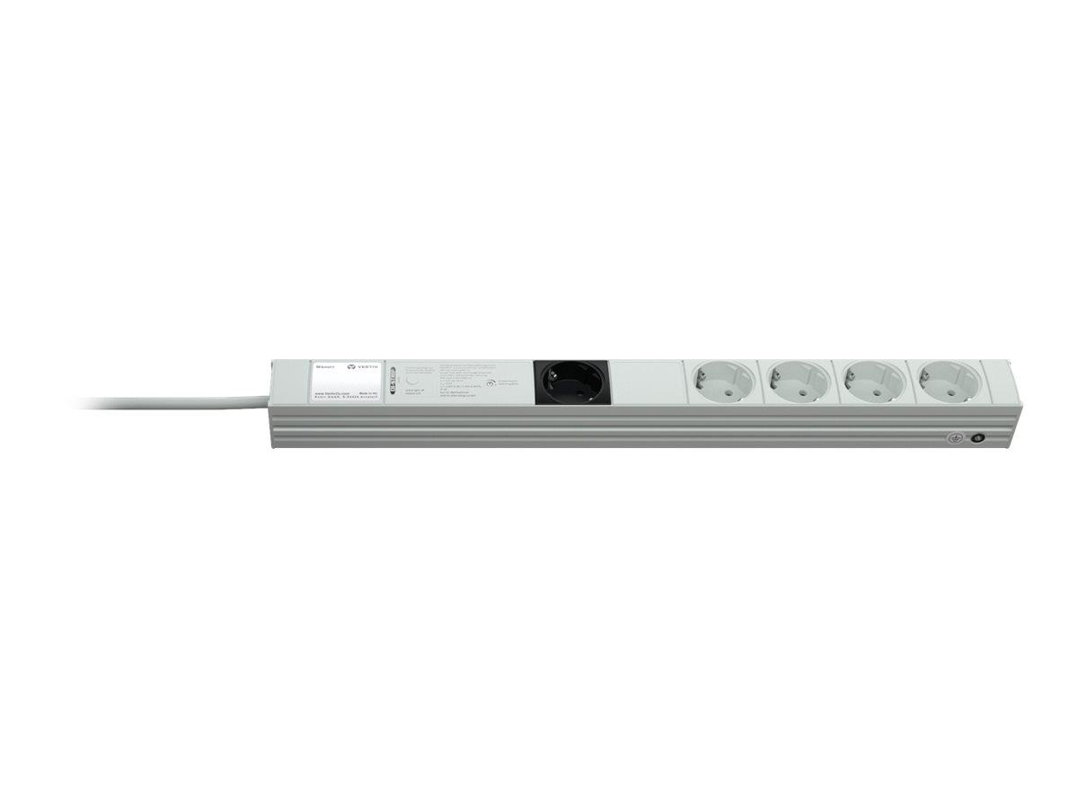 Knürr DI-STRIP Combi - Stromverteilungseinheit (Rack - einbaufähig) - Wechselstrom 250 V - Eingabe, Eingang CEE 7/7 - Ausgangsan