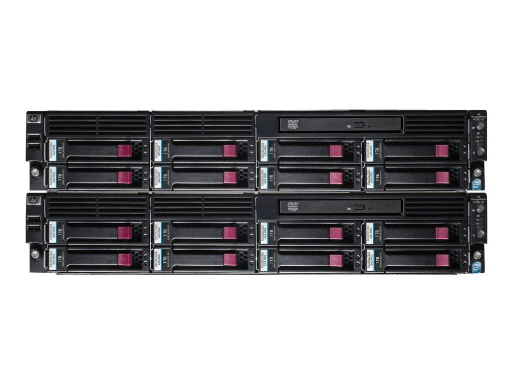HPE LeftHand P4300 G2 MDL SAS Starter SAN Solution - Festplatten-Array - 16 TB - 16 Schächte (SAS-2) - HDD 1 TB x 16 - DVD-ROM