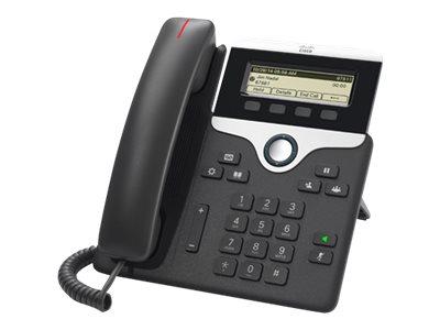 Cisco IP Phone 7811 - VoIP-Telefon - SIP, SRTP - holzkohlefarben