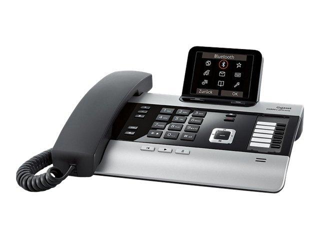 Gigaset DX800A all in one - Schnurgebundenes Telefon / VoIP-Telefon / ISDN-Telefon - Anrufbeantworter mit Rufnummernanzeige/Ankl