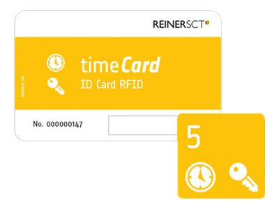 timeCard ID Card RFID - RF Proximity Card (Packung mit 5)