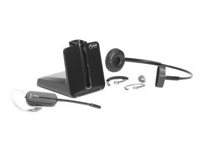 Auerswald COMfortel - Headset - konvertierbar - DECT 6.0 - kabellos - Schwarz