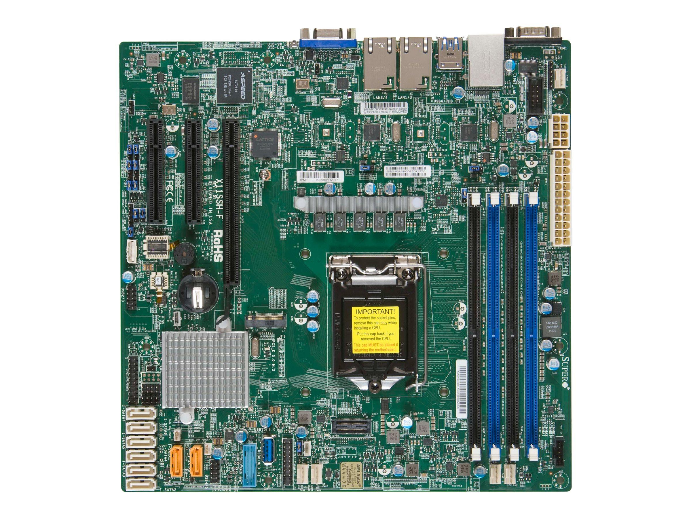 SUPERMICRO X11SSH-F - Motherboard - micro ATX - LGA1151 Socket - C236 - USB 3.0