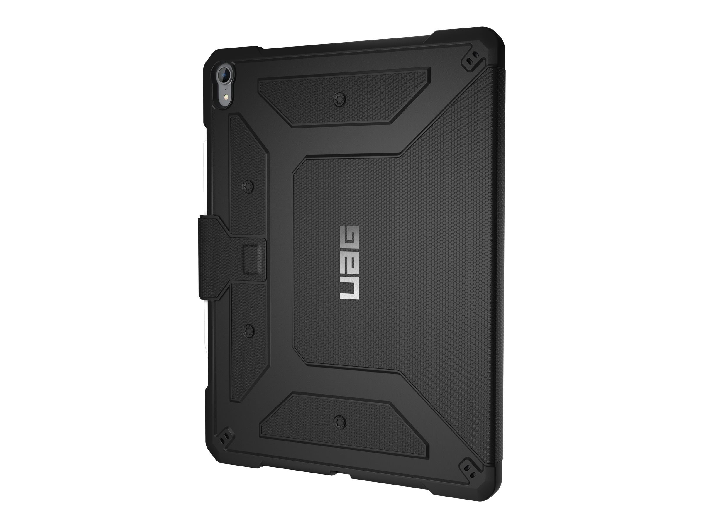 UAG Rugged Case for iPad Pro 12.9-inch (3rd Gen, 2018) - Metropolis Black - Flip-Hülle für Tablet - Schwarz - für Apple 12.9-inc