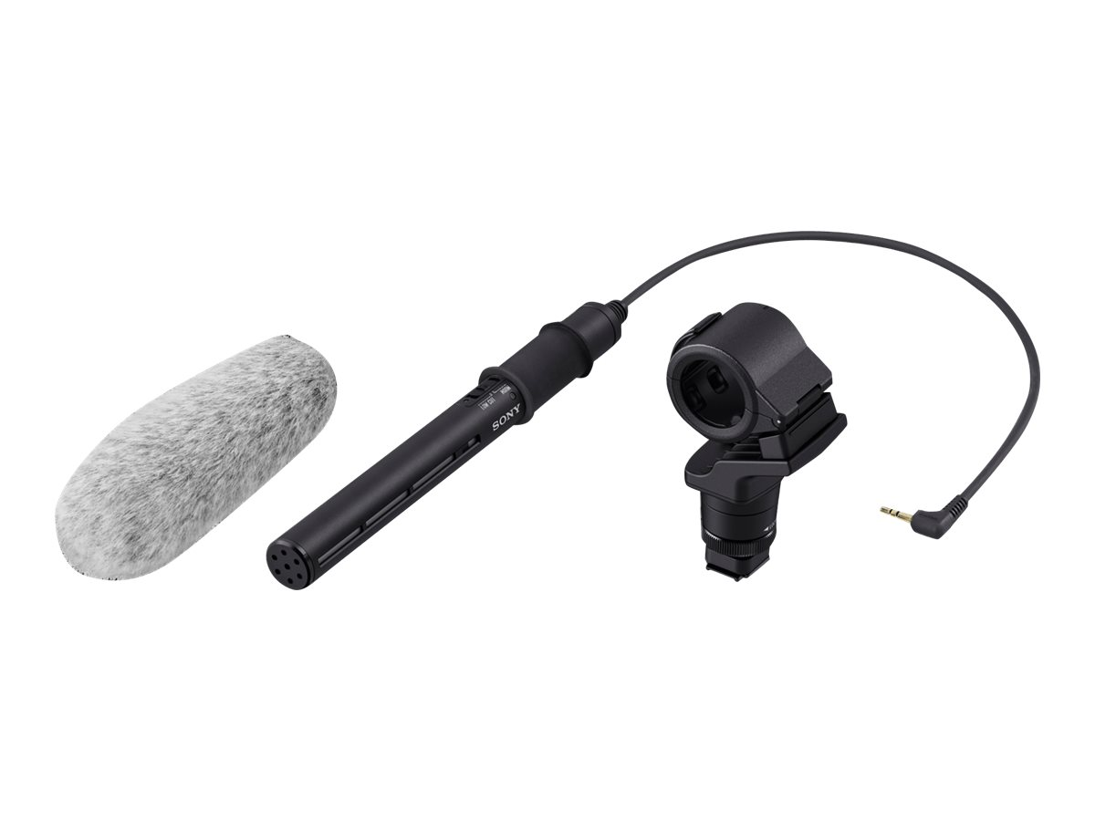 Sony ECM-CG60 - Mikrofon - für Cyber-shot RX10; Handycam FDR-AX700, HDR-CX590, CX680, PJ680; a6400; a7 III; a7R III; a9