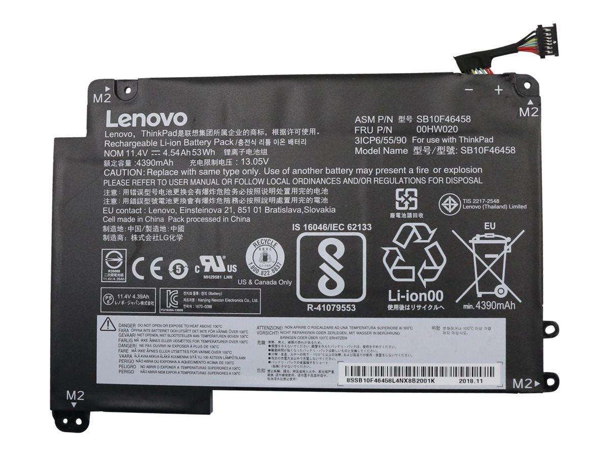 Lenovo ThinkPad - Laptop-Batterie Lithium-Ionen 3 Zellen 4540 mAh 53 Wh - für ThinkPad Yoga 460 20EM