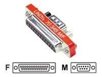 Lindy Mini - Serieller Adapter - DB-9 (M) bis DB-25 (W)