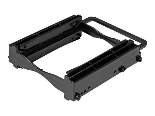 StarTech.com Dual 2,5 SSD/HDD Einbaurahmen für 3,5 Laufwerksschacht - Werkzeuglose Installation - 2 Laufwerks Adapter - Speicher