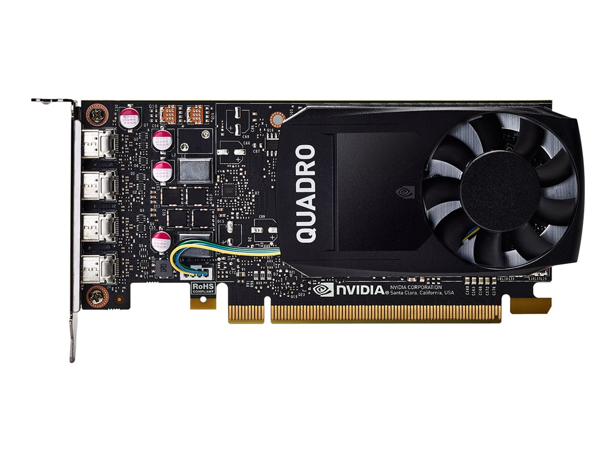 NVIDIA Quadro P1000 - Grafikkarten - Quadro P1000 - 4 GB GDDR5 - PCIe 3.0 x16 Low-Profile - 4 x Mini DisplayPort