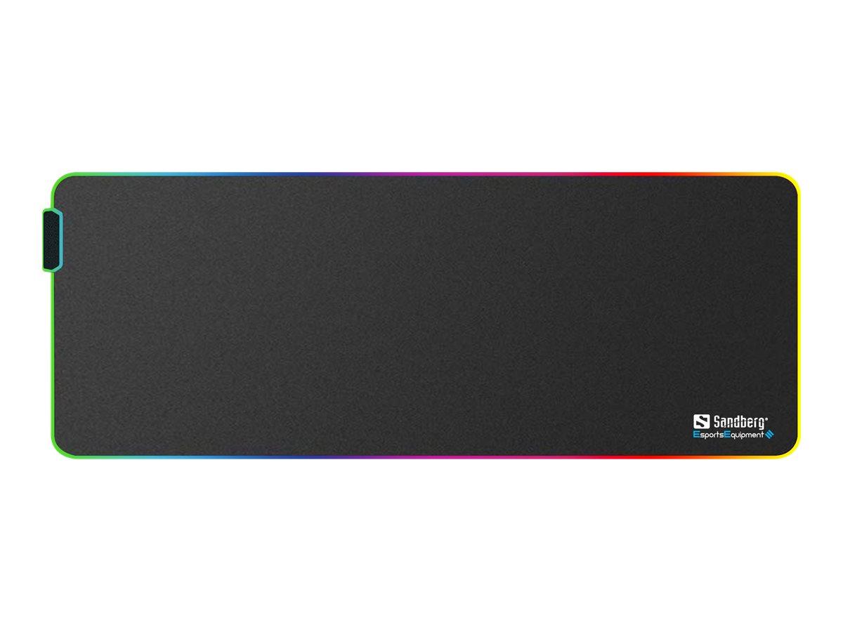 Sandberg RGB Soft Desk Pad XXXL - Beleuchtetes Tastatur- und Mauspad