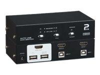M-CAB - KVM-/Audio-Switch - 2 x KVM/Audio - 1 lokaler Benutzer - Desktop