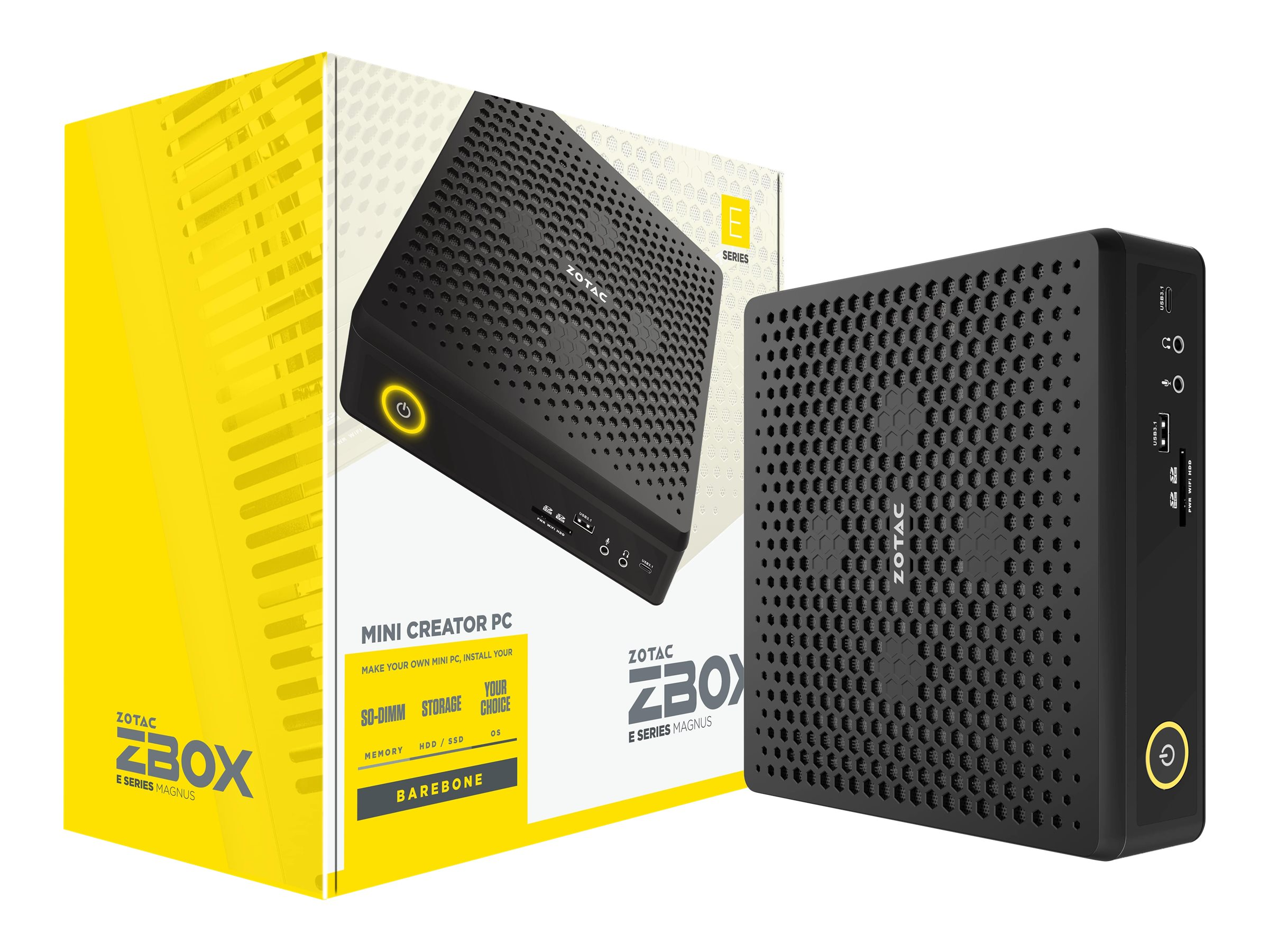 ZOTAC ZBOX E Series MAGNUS EN052060C - Barebone - Mini-PC - 1 x Core i5 10300H / 2.5 GHz - RAM 0 GB - GF RTX 2060