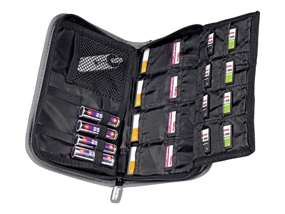 Hama Multi Card Case Maxi - Speichertasche - Kapazität: 20 SD cards - Grau, Schwarz