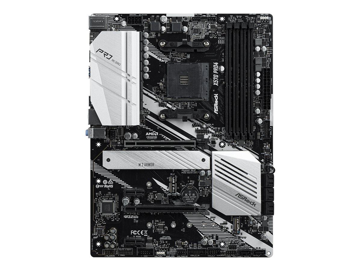 ASRock X570 Pro4 - Motherboard - ATX - Socket AM4 - AMD X570 - USB-C Gen2, USB 3.2 Gen 1, USB 3.2 Gen 2