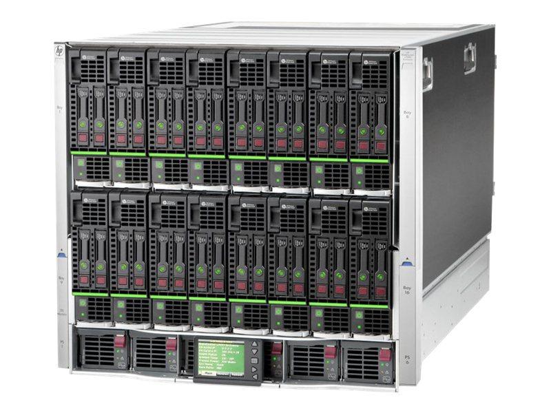HPE BLc7000 Enclosure - Rack - einbaufähig - bis zu 16 Blades - Stromversorgung Hot-Plug 2400 Watt - mit ROHS 16 Insight Control