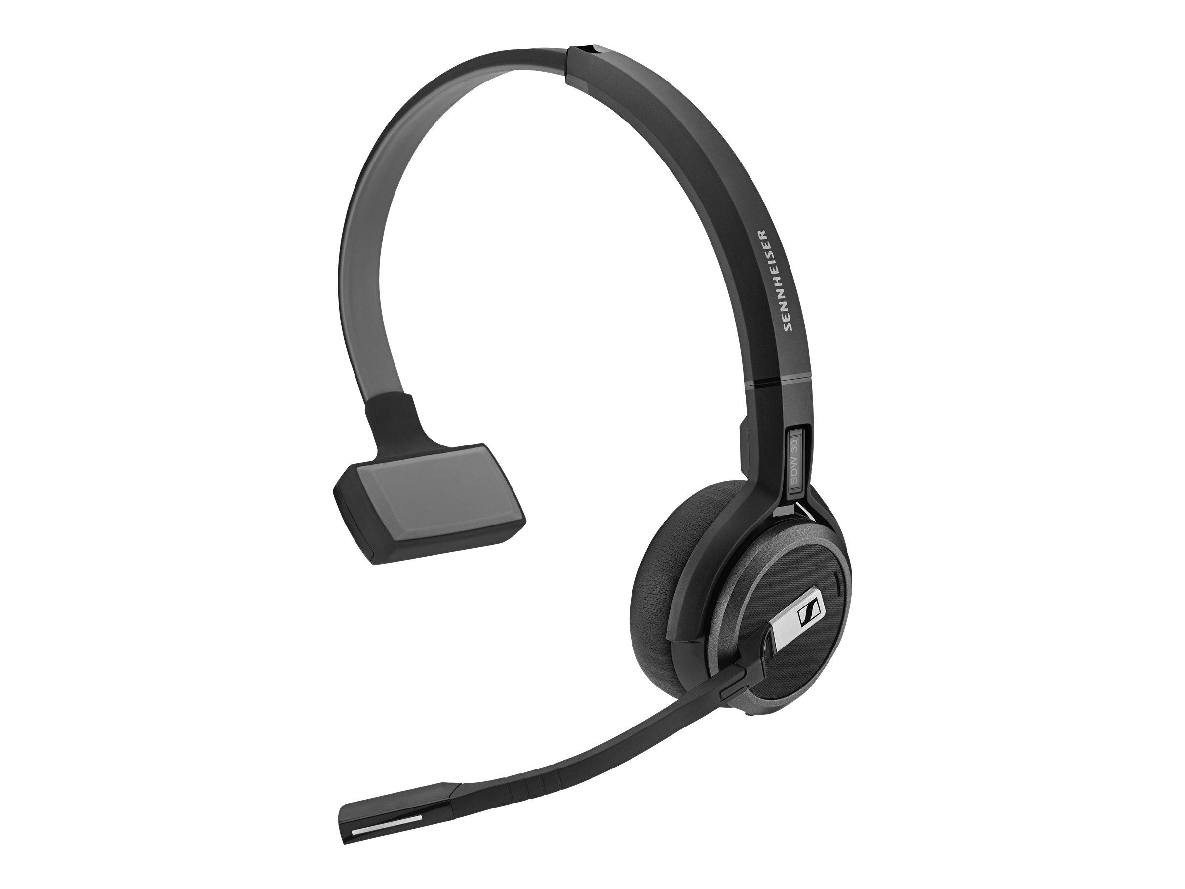 Sennheiser SDW 30 HS - Headset - On-Ear - DECT - kabellos - aktive Rauschunterdrückung