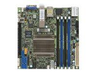 SUPERMICRO X10SDV-8C-TLN4F+ - Motherboard - Mini-ITX - Intel Xeon D-1537 - USB 3.0 - 2 x 10 Gigabit LAN, 2 x Gigabit LAN
