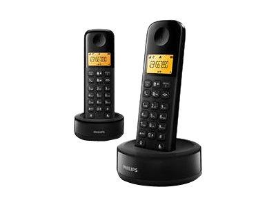 Philips D1602B - Schnurlostelefon mit Rufnummernanzeige - DECT\GAP + zusätzliches Handset