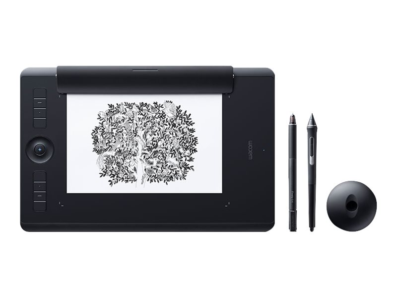 Wacom Intuos Pro Medium - Paper Edition - Digitalisierer - rechts- und linkshändig - 22.4 x 14.8 cm - Multi-Touch