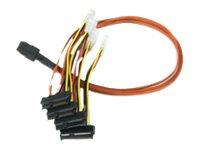 LSI - Internes SAS-Kabel - 4-Lane - interne Stromversorgung, 4-polig, 36 PIN 4iMini MultiLane (M) bis interne SAS, 29-polig (SFF